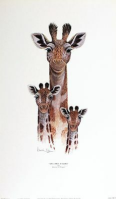 "WARWICK HIGGS ""Ups Downs"" giraffe necks BROWSE OUR SHOP SIZE:56cm x 33cm  RARE"