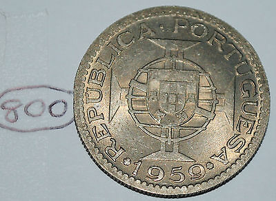 India-Portuguese 1959 Scarce 3 Escudos Nice KM #34 Coin Lot #800