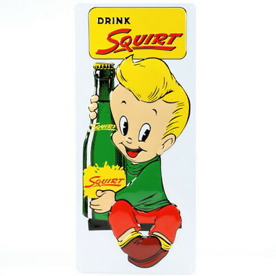 Squirt Soda Boy Embossed Tin Sign