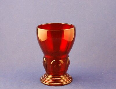 Vintage New Martinsville Glass Company Ruby Red Moondrops Footed Tumbler 9 oz