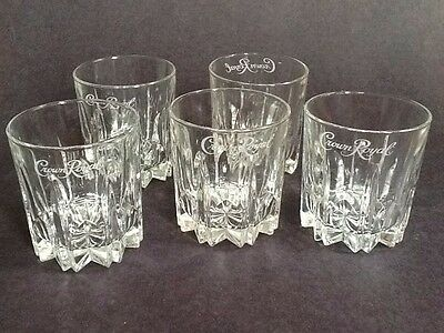 Lot of 5 Crown Royal Canadian Whiskey Glasses