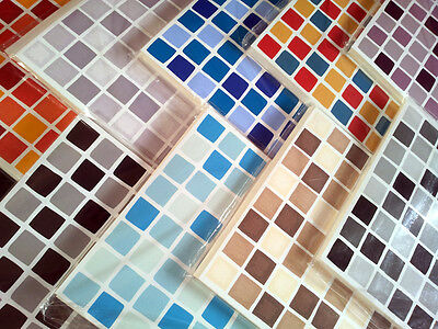 Self Adhesive Mosaic TILE TRANSFERS Stickers BATHROOM Kitchen Decals DECORATION