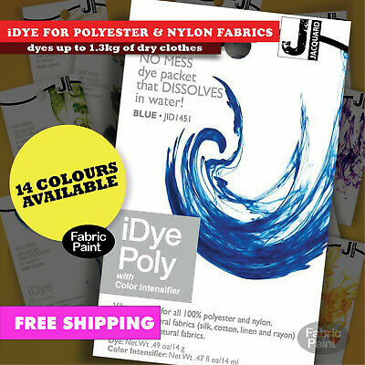 Jacquard iDye for poly fabrics-polyester nylon-dyes -1.3kg dry cloth -FREE POST
