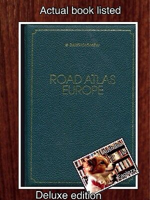 Bartholomew Road Atlas Europe De Luxe Edition In Slip Case Hardcover 1980