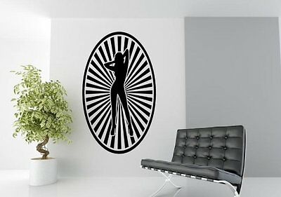 Starburst Sexy Lady - Large Vinyl Wall Stickers. Many colours. High Quality New!