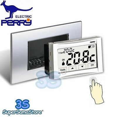 3S Termostato digitale 3V da incasso touch screen MOON SOFT TOUCH Perry 1TITE542