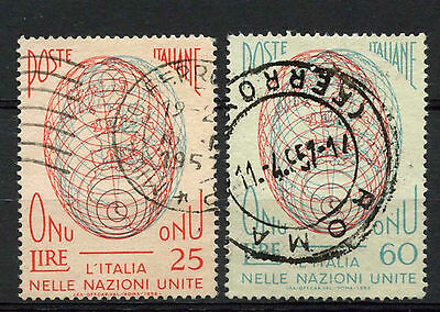 Italy 1956 SG#940-1 United Nations Admission Used Set #A71659
