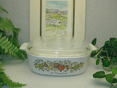 Corelle Corning Ware SPICE O of LIFE Casserole with Pyrex Lid 2.0 Qt/L  A-2-B
