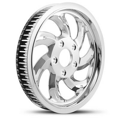 "Dna ""storm"" Chrome Rear Pulley 66T 1"" Harley 07+ Big Twin Softail Dyna"