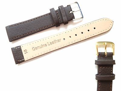 Brown High Quality Mens Ladies Genuine Soft Leather Watch Band Strap 6mm-22mm