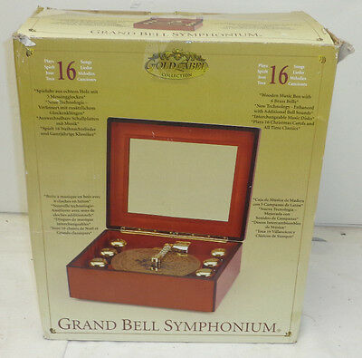 GRAND MUSICAL BELL SYMPHONIUM, PLAYS 16 CLASSIC SONGS INTERCHANGEABLE DISCS MINT