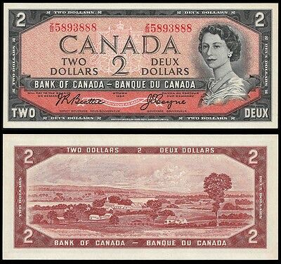 Canada 2 DOLLARS ND (1955-61) P 76a UNC