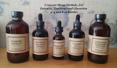 HOLY BASIL KRISHNA TULSI Herbal Tincture Extract, 2, 4, 8 oz, Made in Maine