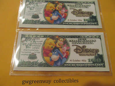 "Novelty*$100.bill""winnie The Pooh"" & Dollar Holder"