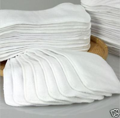 New 2 Layers Microfiber Cloth Inserts Liner For Cloth Diaper Washable Reusable