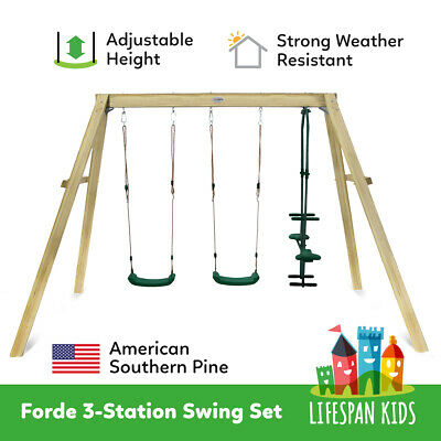 NEW KIDS OUTDOOR TOY SAND PIT PLAY HOUSE WOODEN SWING SET Forde2