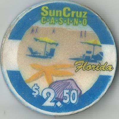 Sun Cruz  Casino $2.50 Florida Casino  Chip