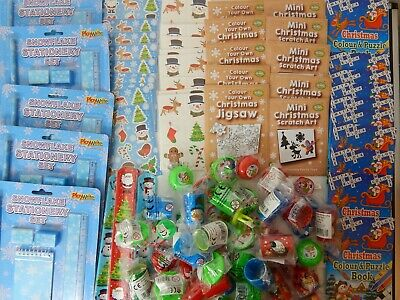 100 Small CHRISTMAS Toys for Party Bag! Tombola! Favours! Lucky Dip Prizes XMAS