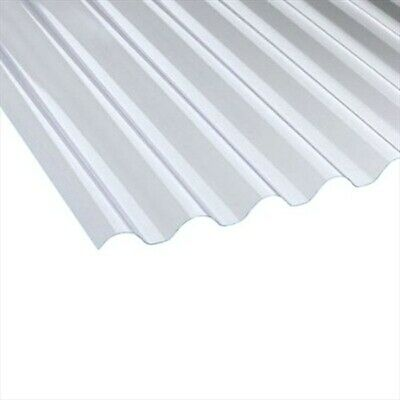1.1mm Heavyweight Plastic Corrugated Roofing Sheet, 762 wide, Vistalux, Various