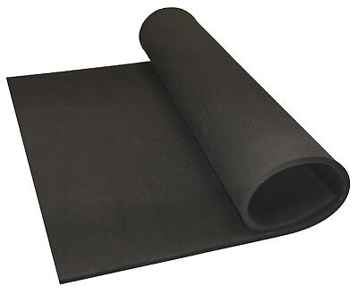 BLACK NEOPRENE PLAIN SPONGE/FOAM RUBBER SHEET X 1.5mm - 25mm THICK