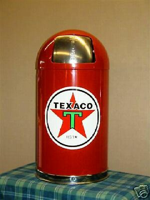 New Texaco Star Garbage Trash Waste Receptacle Can - Red -  Free Shipping*