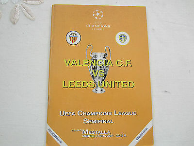 2000-1 CHAMPIONS LEAGUE VALENCIA CF v LEEDS UNITED  UNOFFICIAL