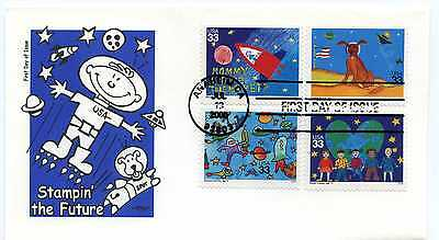 3414-17 Stampin' the Future on one Artmaster  FDC