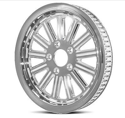 """Dna """"thirteen"""" Chrome Rear Pulley 70T 1-1/8"""" Harley Touring Softail Dyna"""