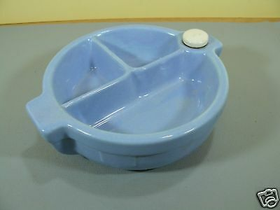 Vintage Stay Warm Heated Baby Bowl with stopper Blue color