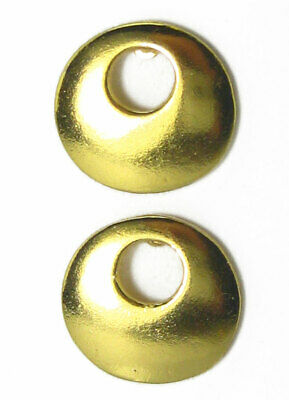 ACROSS THE PUDDLE 24k GP Pre-Columbian Smooth Nose Ring (M) Drop Earrings