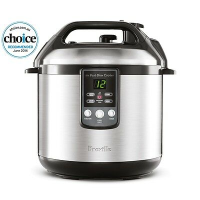 NEW Breville The Fast Slow 6L Pressure Cooker 6 Litre BPR200