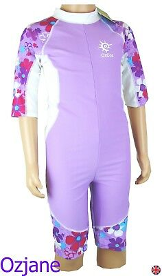 Girls Ozcoz Uv Upv Spf 50+ Sun Protection Suit 4 To 15 Swimming Costume 1 Pc Lil