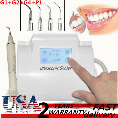 Dental Ultrasonic Piezo Scaler Scaling LCD Touch Screen Handpiece+Tips Fit EMS