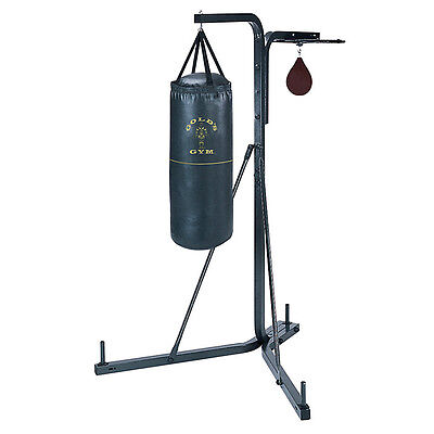 Golds Gym Free Standing Boxing Stand Kickboxing Punch Bag Frame With Speedball