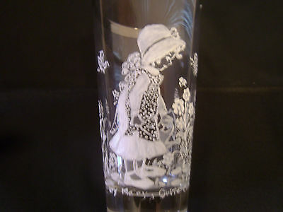 "5 5/8"" Tall Glass M. Friede Mary Gregory Type Hand Painted Mary Quite Contrary"
