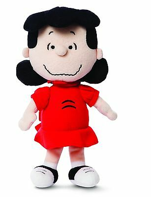 "NEW PEANUTS 10"" Lucy Plush Cuddly Soft Toy Teddy by AURORA Charlie Brown/Snoopy"