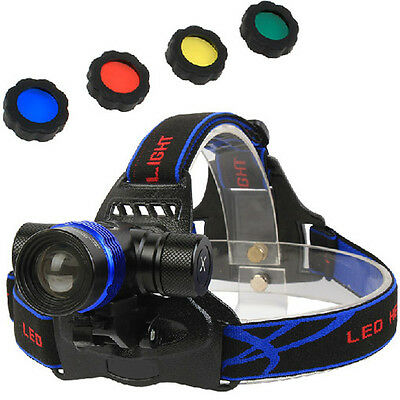 NEW GD06 1800LM CREE XML T6 LED Zoomable Headlamp/Bicycle Light Torch Flashlight