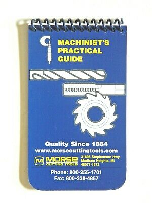 New Morse Pocket Machinist's Practical Guide, Manual, Handbook, 1001, DD