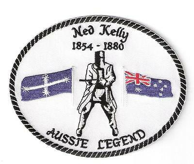 NED KELLY  Aussie Legend  XL Iron on Patch Badge Outback Bushranger