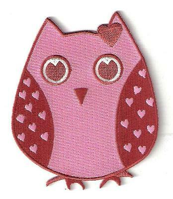 OWL ** HOOT! ** EXTRA LARGE Iron On Embroided Patch / Motif / Applique.