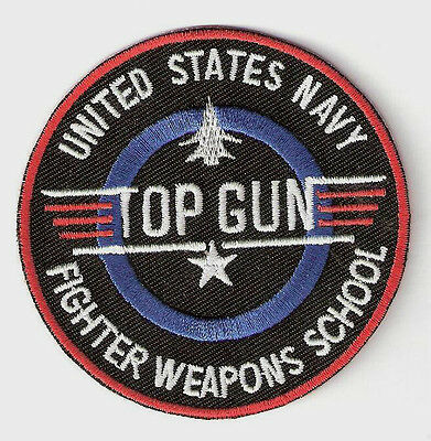 TOP GUN ░ Quality  Iron On Patch Badge US NAVY WEAPONS SCHOOL  ░ TOM CRUISE