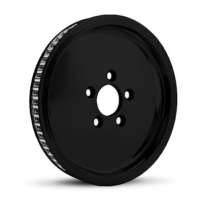 "Dna ""smoothie"" Gloss Black Rear Pulley 66T 1"" Harley 07+ Big Twin Softail Dyna"