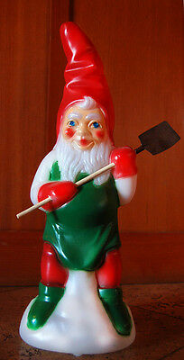 """19.5"""" Holiday Christmas Light Up Elf, Gnome Blow Mold"""