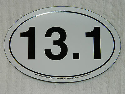 13.1 RUNNER'S CAR MAGNET/FRIDGE MAGNET/ANYWHERE!