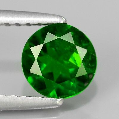 0.77ct Round Natural UNTREATED Intense Green CHROME DIOPSIDE #351278
