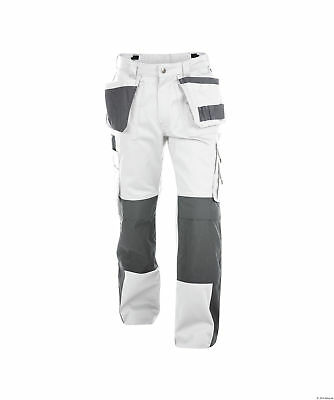 Dassy Seattle Work Trousers Pants White Grey Painters Decorators Short Reg Tall