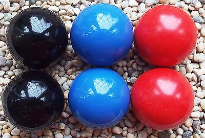 Set of 6 Lacquered Fluo jacks coches for Petanque Boules Dark Set