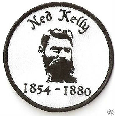 NED KELLY Iron on Patch Badge. Outback Aussie Bushranger. Aussie Seller !