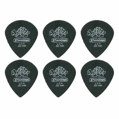 6 X Jim Dunlop Tortex Jazz 3 Pitch Black .50mm Guitar Picks III *NEW Free Post