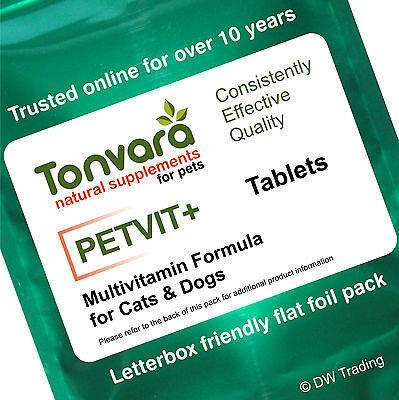 60 Tabs Hi Strength Unique & Potent Advanced Vitamin Formula for Cats & Dogs